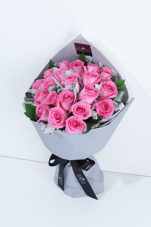 情人節 20/30支粉紅玫瑰 花束