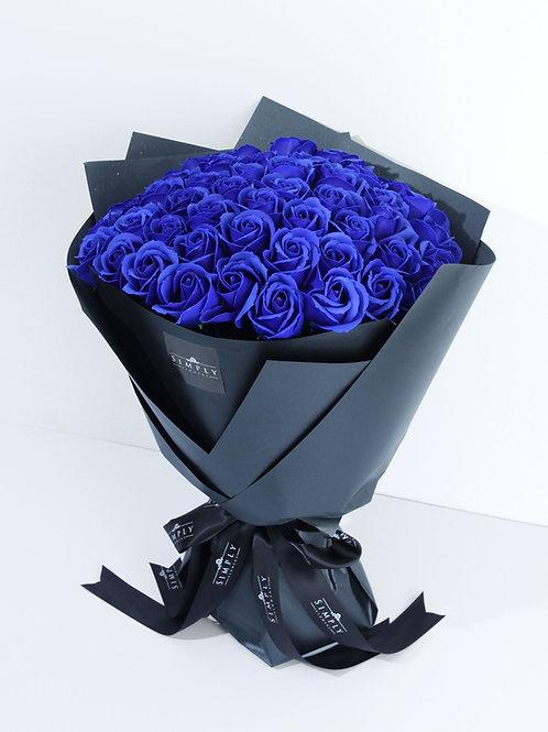 50支 藍玫瑰香薰花 花束 【非鮮花】