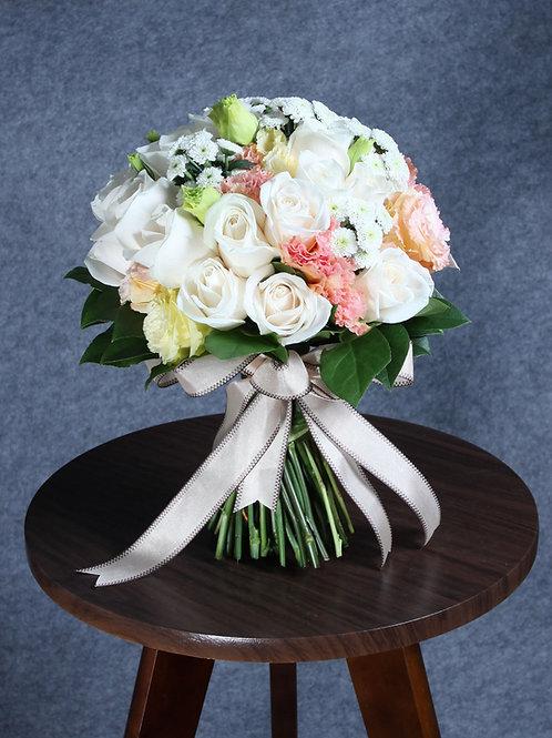 結婚花球 + 襟花 8號款式
