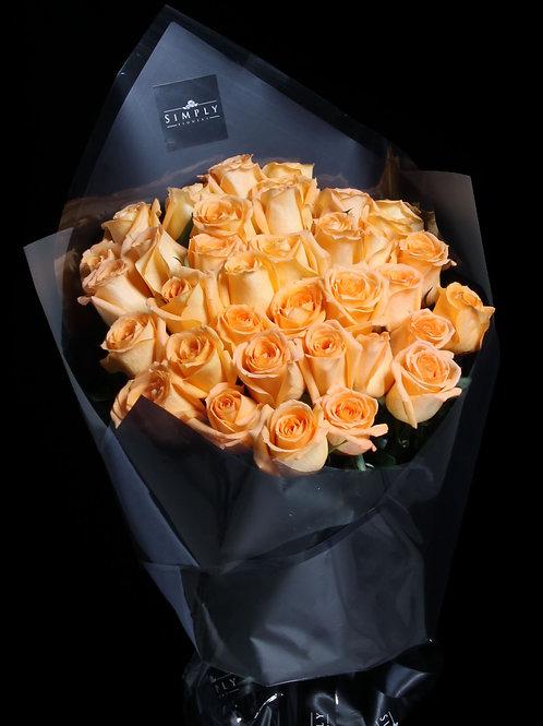 橙玫瑰 花束