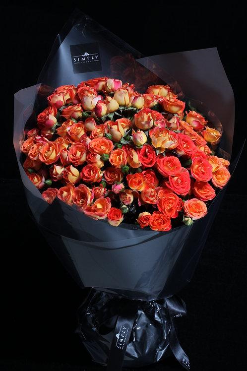 橙小玫瑰 花束
