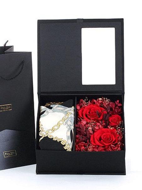 進口保鮮花花盒 + 絲巾
