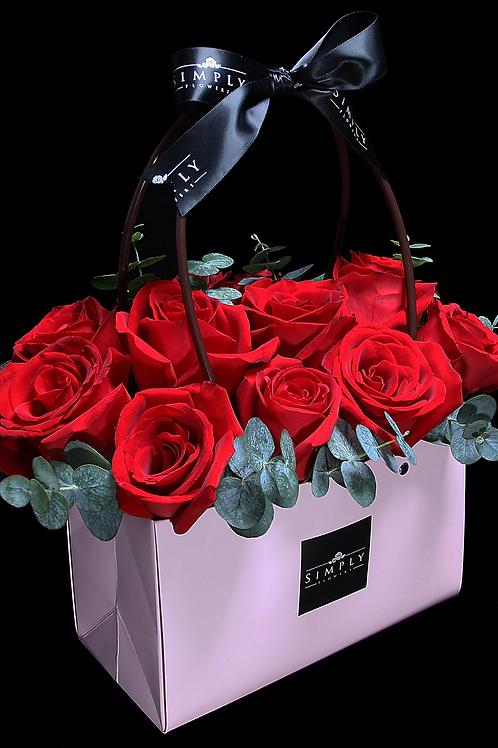 情人節紅玫瑰花盒
