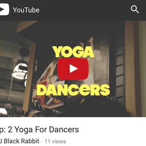 YOGA FOR DANCERS INTERVIEW WITH YOUTUBER, DJ BLACK RABBIT!