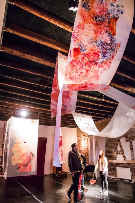 Solo exhibition--- many thanks to ATOM Theatre----- Photo Credit : Ivan-Alexander Kjutev 2017
