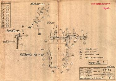 Rozvod ventilace dolní patro T-S 54