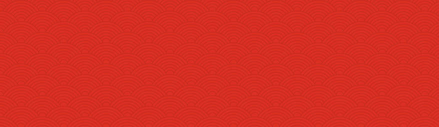 Red Japanese Wave Pattern