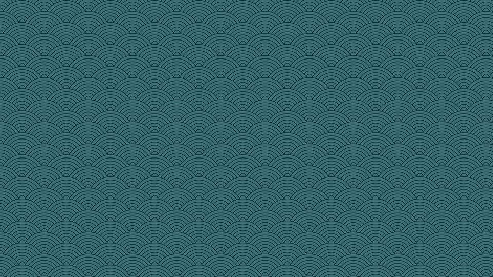 Blue Japanese Wave Pattern