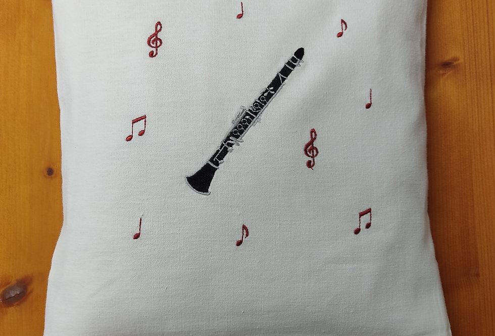 Zirbenkissen bestickt - Klarinette -