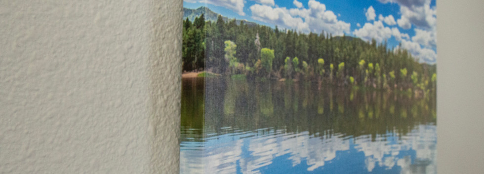 The museum-quality, poly-cotton blended canvas is tightly wrapped over 100% renewable, knot-free wood. Canvas features a protective gloss finish and perfectly folded corners.  All canvas prints arrive ready to hang.