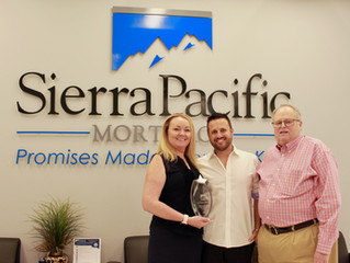 Sierra Pacific Mortgage's Las Vegas Office Presented with $100M award