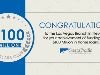 Sierra Pacific Mortgage Las Vegas Fundings Achievement Award