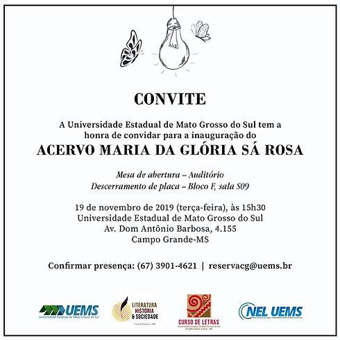 convite_Acervo_Maria_da_Glória_Sá_Rosa