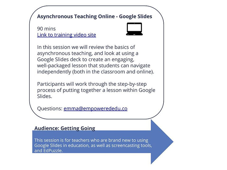 Engaging Online Asynchronous Lessons - Using Google Slides