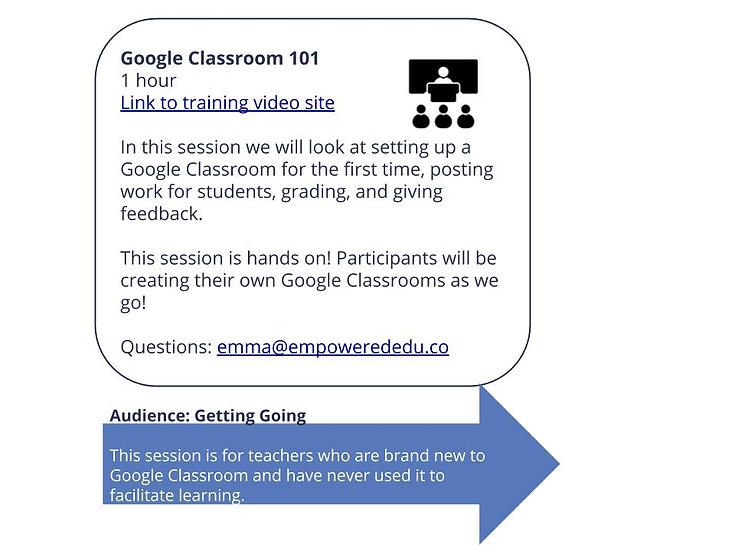 Google Classroom 101 + Digging Deeper with Google