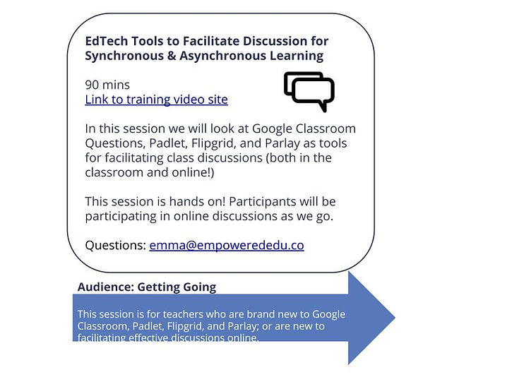 EdTech Tools for Online Discussion
