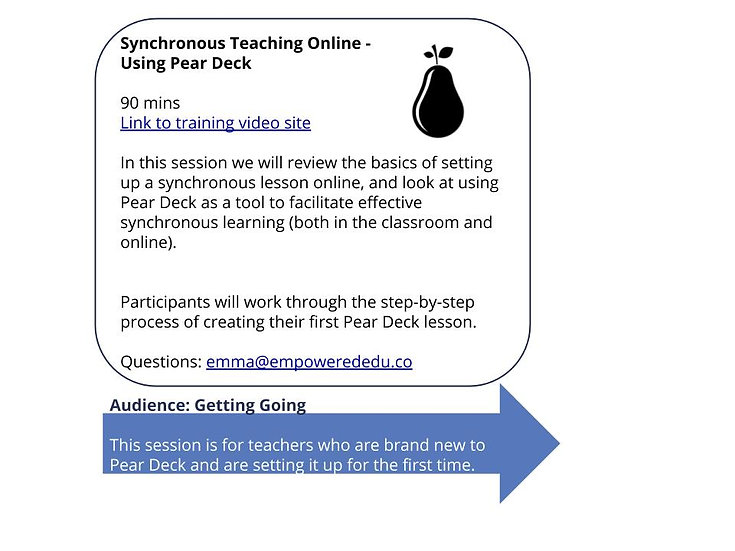 Engaging Online Synchronous Lessons - Using Pear Deck