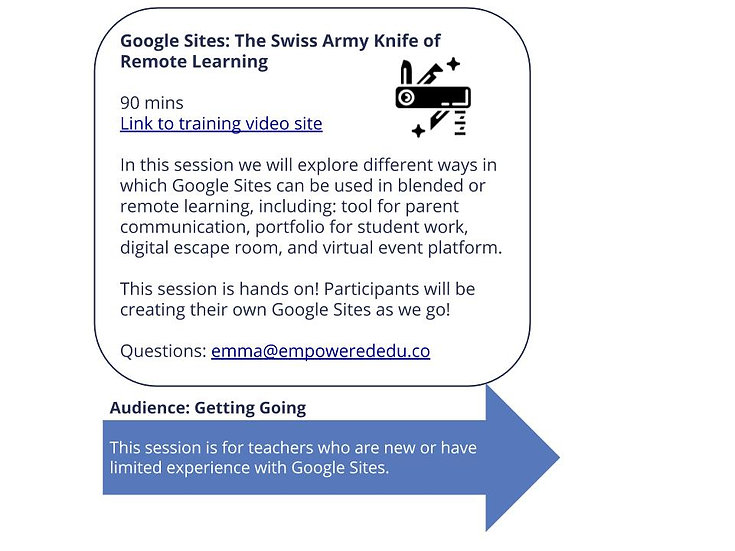 Google Sites: The Swiss Army Knife of Remote Learning