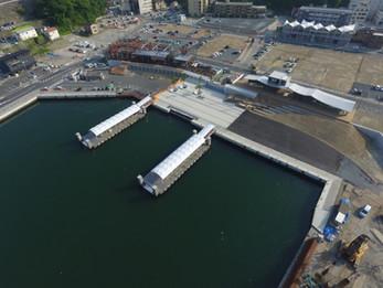 建設中の内湾エリア