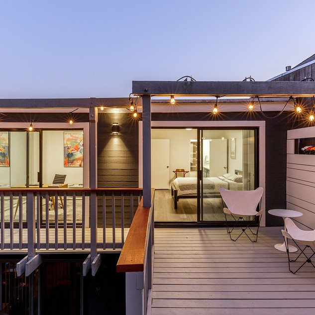Deck and Bedrooms