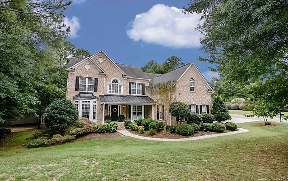 Large brick front home in Mount Holly