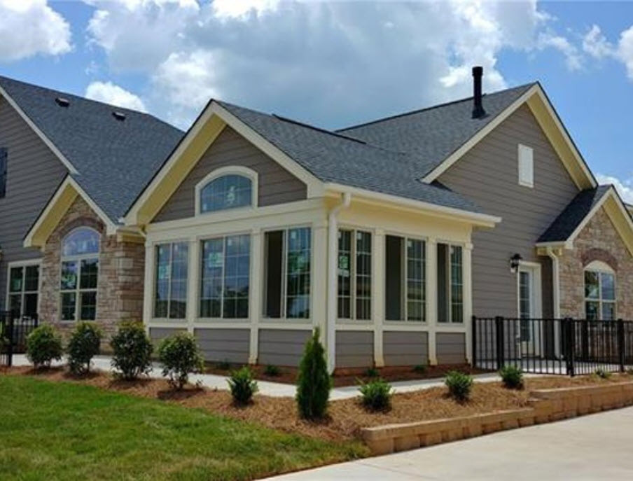Home with large sunroom