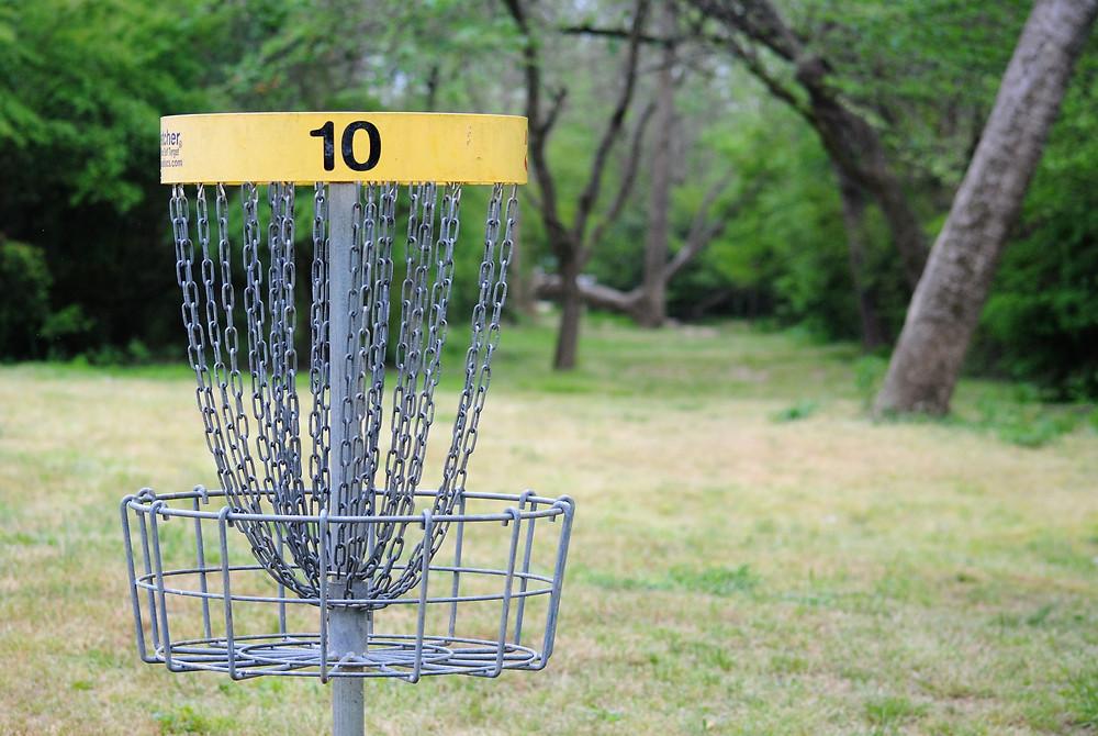 """A disc golf """"hole"""""""