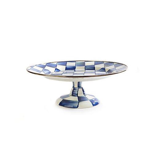 Royal Check Pedestal Platter - Small