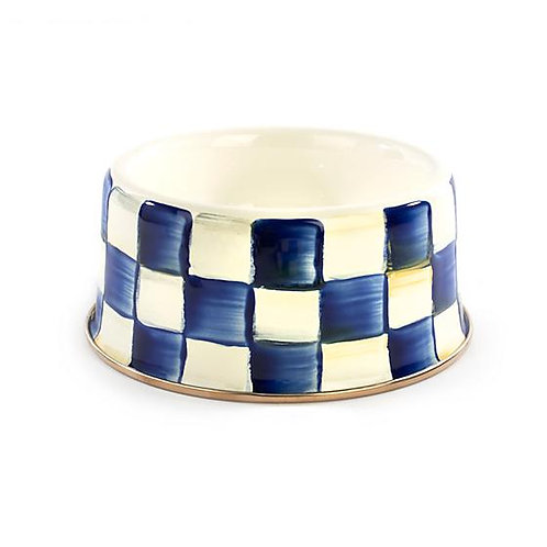 Royal Check Pet Dish - Medium
