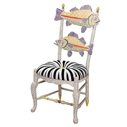 Freckle Fish Chair - Black & White Seat
