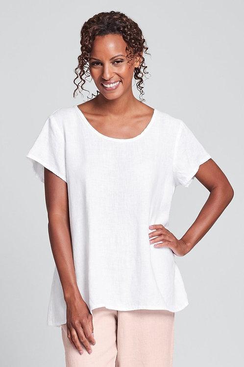 FLAX Blossom Blouse - Linen Shirt - White