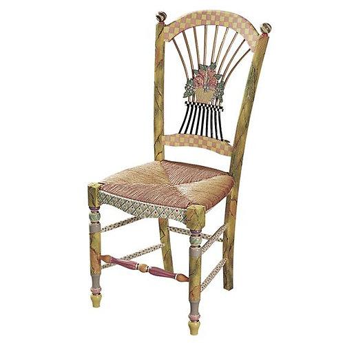 Light Flower Basket Side Chair