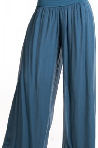 GIGI MODA Silk Pant With Side Slit