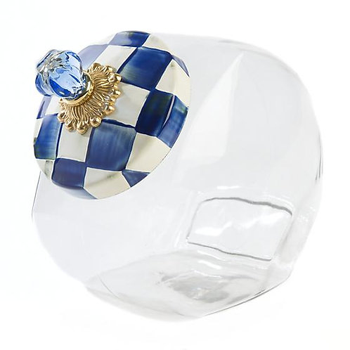 Cookie Jar with Royal Check Enamel Lid