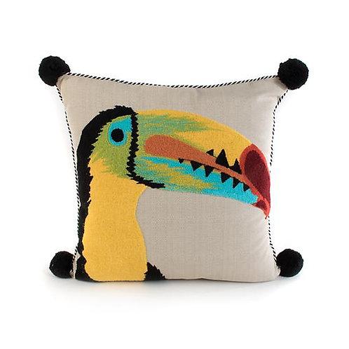 Toucan Outdoor Accent Pillow