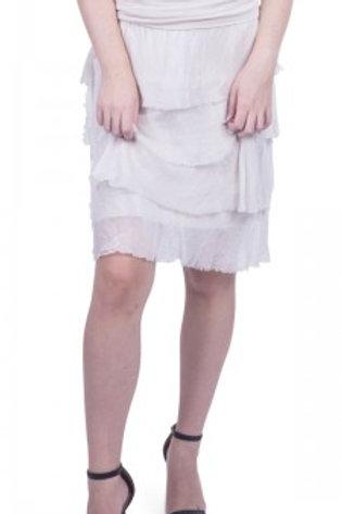 GIGI MODA Silk Short Ruffled Skirt