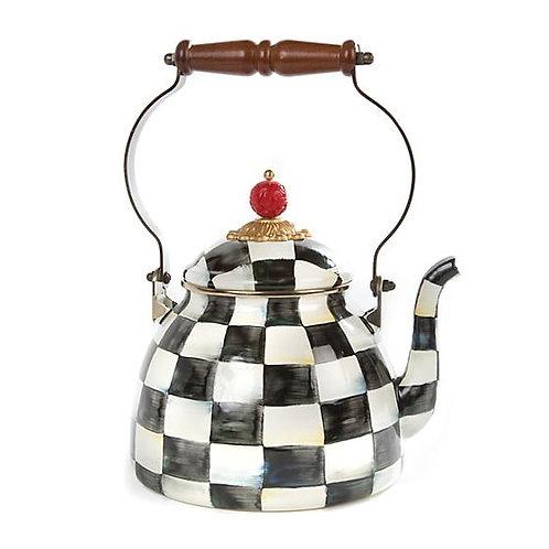 Courtly Check Enamel Tea Kettle - 2 Quart