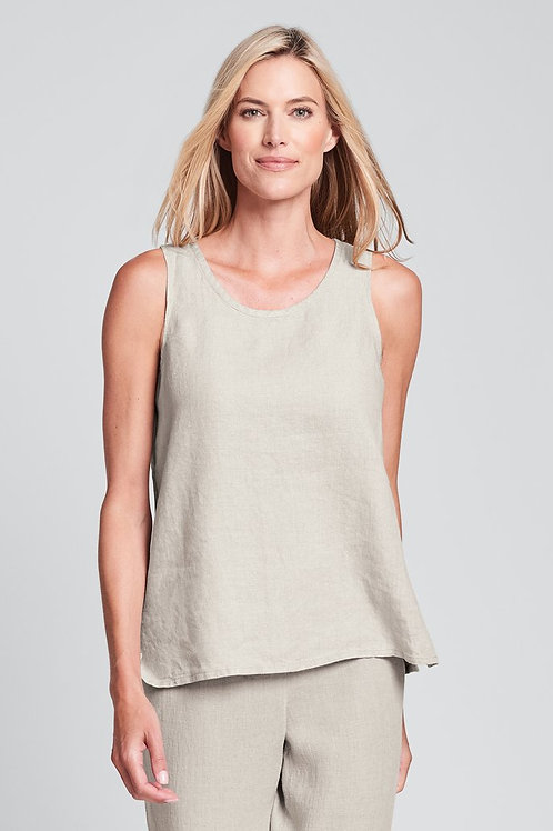 FLAX Fundamental Tank - Linen Tank Top - Natural