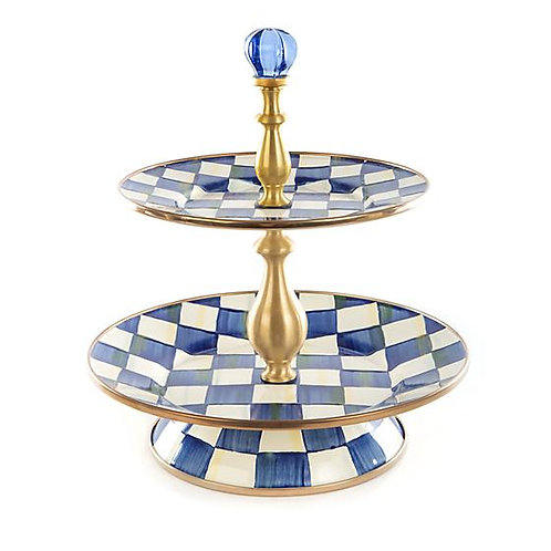Royal Check Two Tiered Sweet Stand