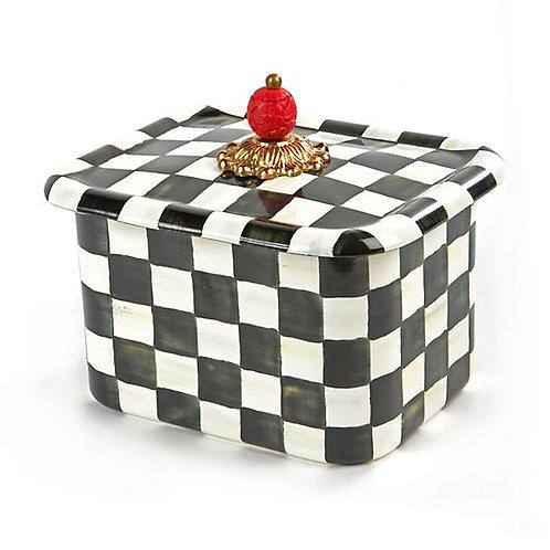 Courtly Check Enamel Recipe Box