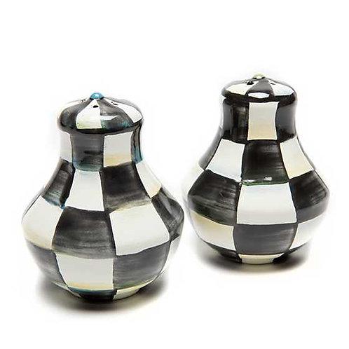 Courtly Check Enamel Salt & Pepper Shakers