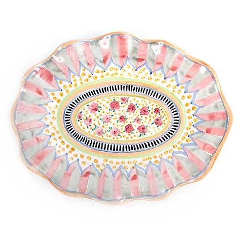 Taylor Cabbage Rose Large Serving Platter