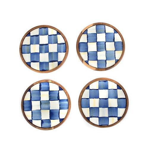 Royal Check Coasters - Set of 4