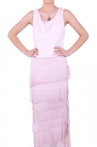 GIGI MODA Silk Full Length Ruffle Skirt