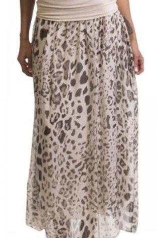 GIGI MODA Leopard Print Maxi Skirt