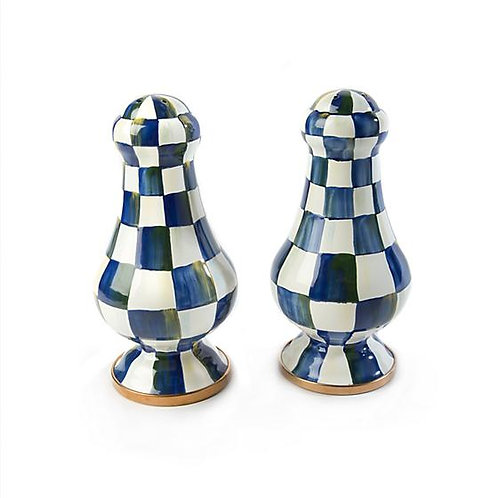 Royal Check Salt & Pepper Shakers Large