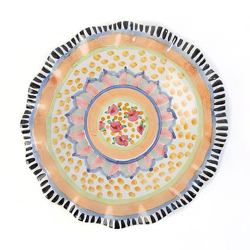 Taylor Fluted Luncheon Plate – Cabbage Rose