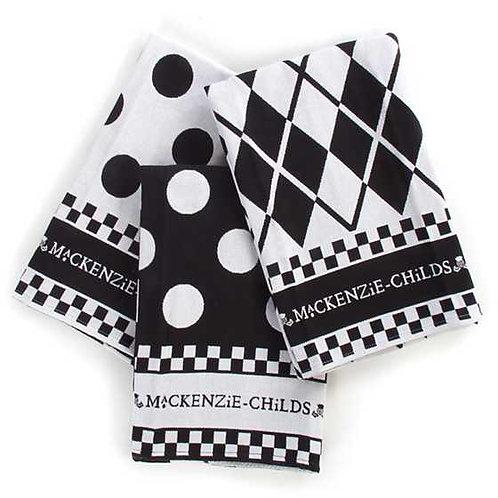 Black & White Dot Dish Towels - Set of 3