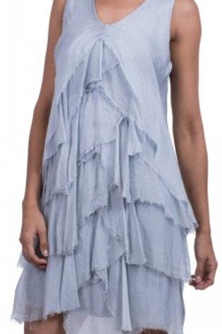 GIGI MODA Silk Ruffle ChaCha Dress