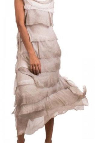 GIGI MODA Full Length Ruffle Dress